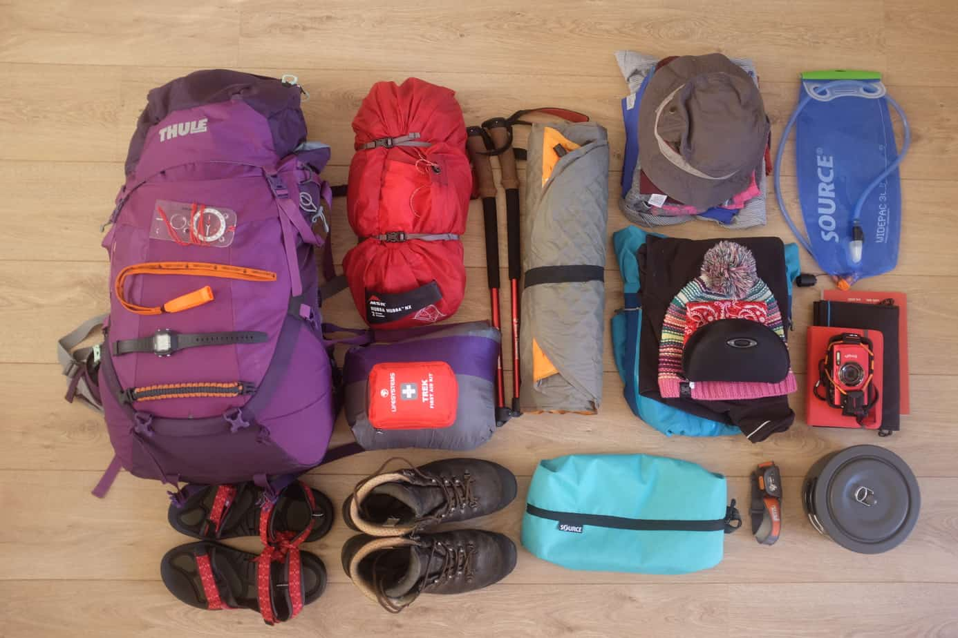 Israel National Trail kit list