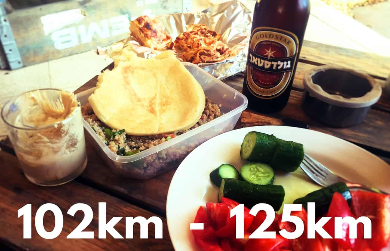 102km to 125km