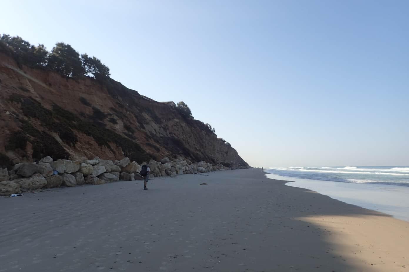 Beach hike in Israel