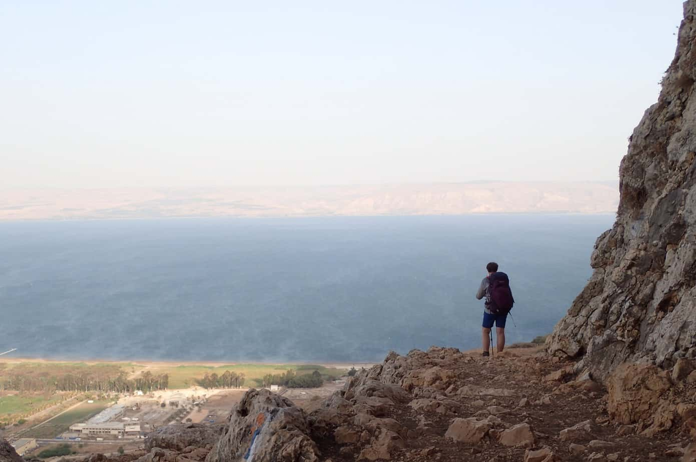 Me overlooking the Sea of Galilee
