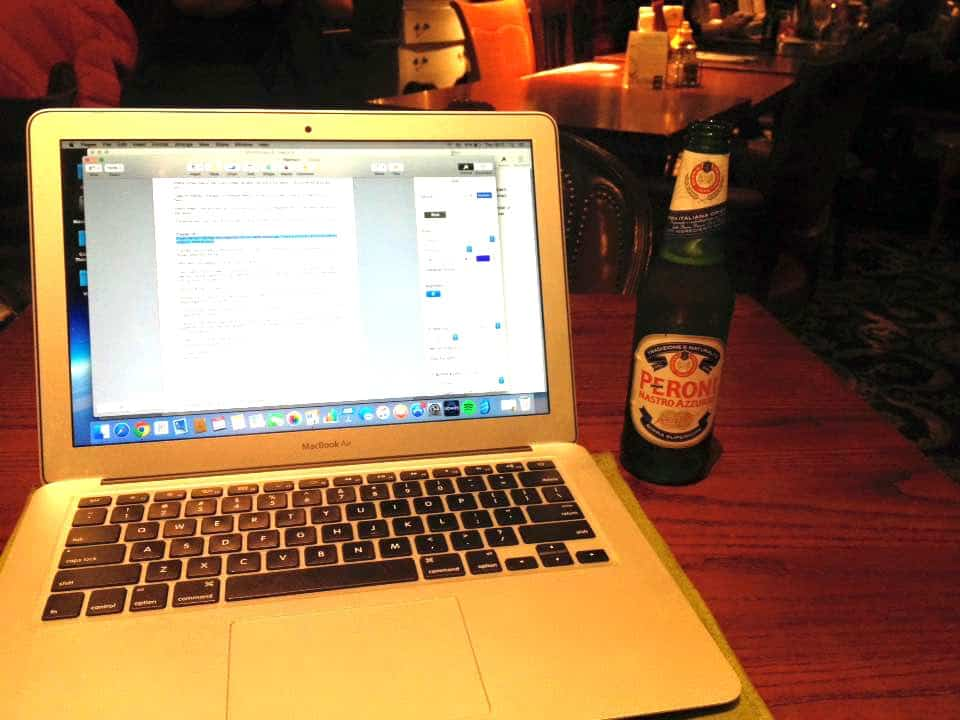 Blogging over a beer