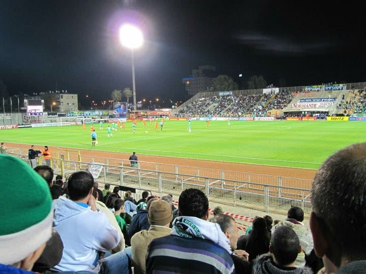 Israel football match in Haifa