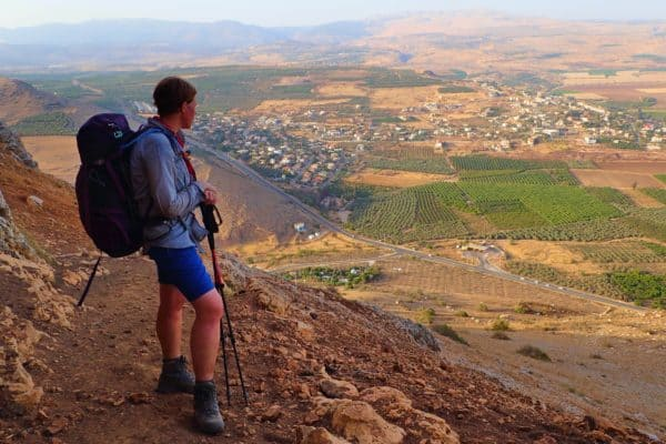 Me looking at the view from Mt Arbel