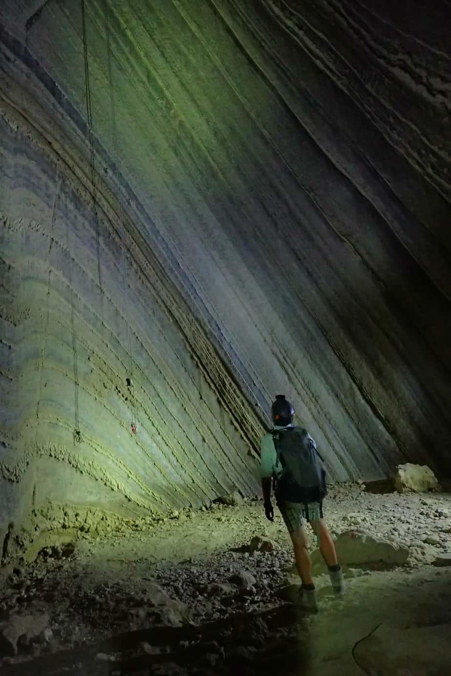 Salt caving in Israel