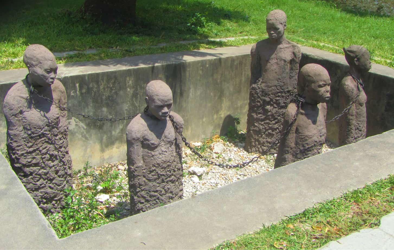 Slave market in Stone Town, things to do on zanzibar island