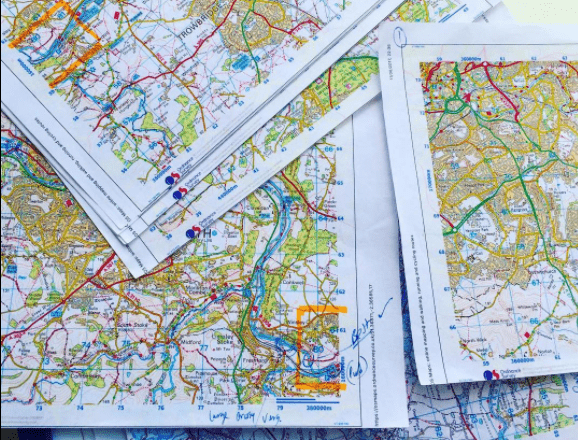 Expedition planning; maps