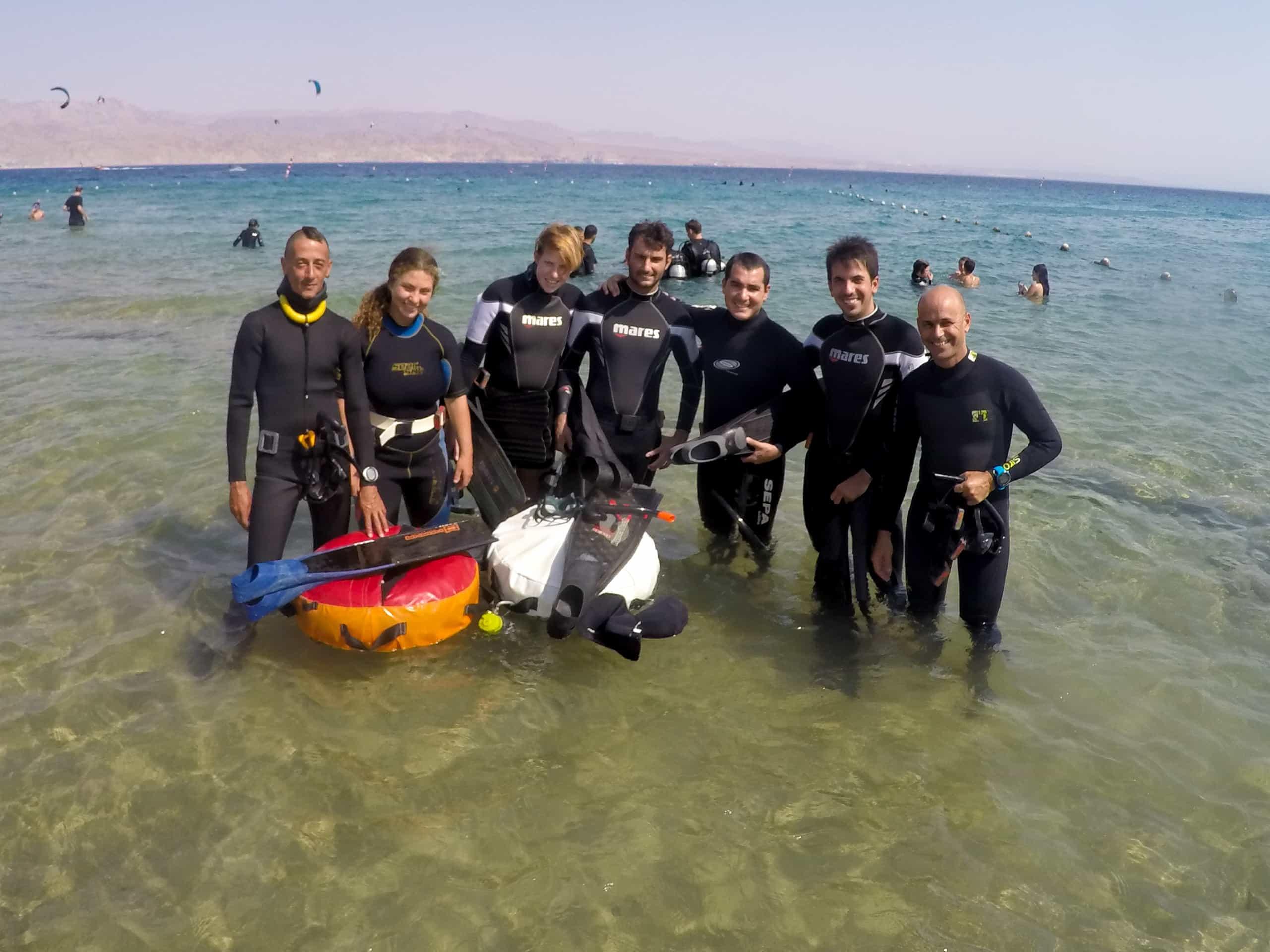 freediving in eilat