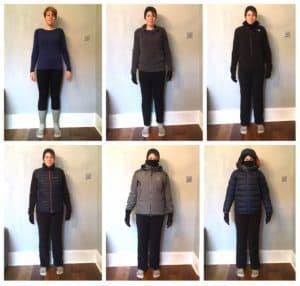 What clothes to wear for a winter skills week