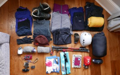 Winter skills kit list; what to pack for a winter skills week