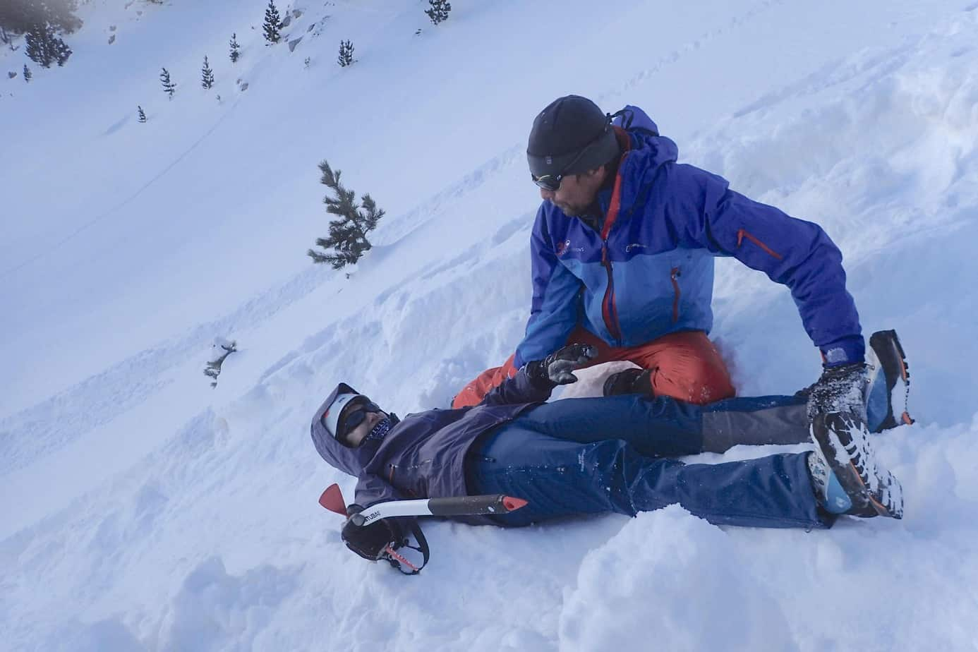 Winter skills course self arrest technique