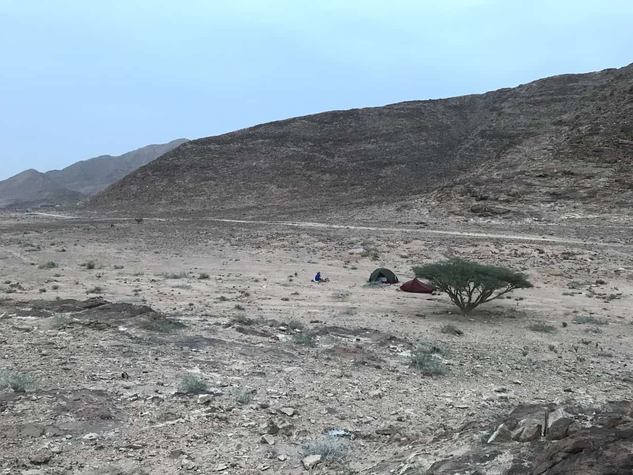 Camping on the Jordan Trail