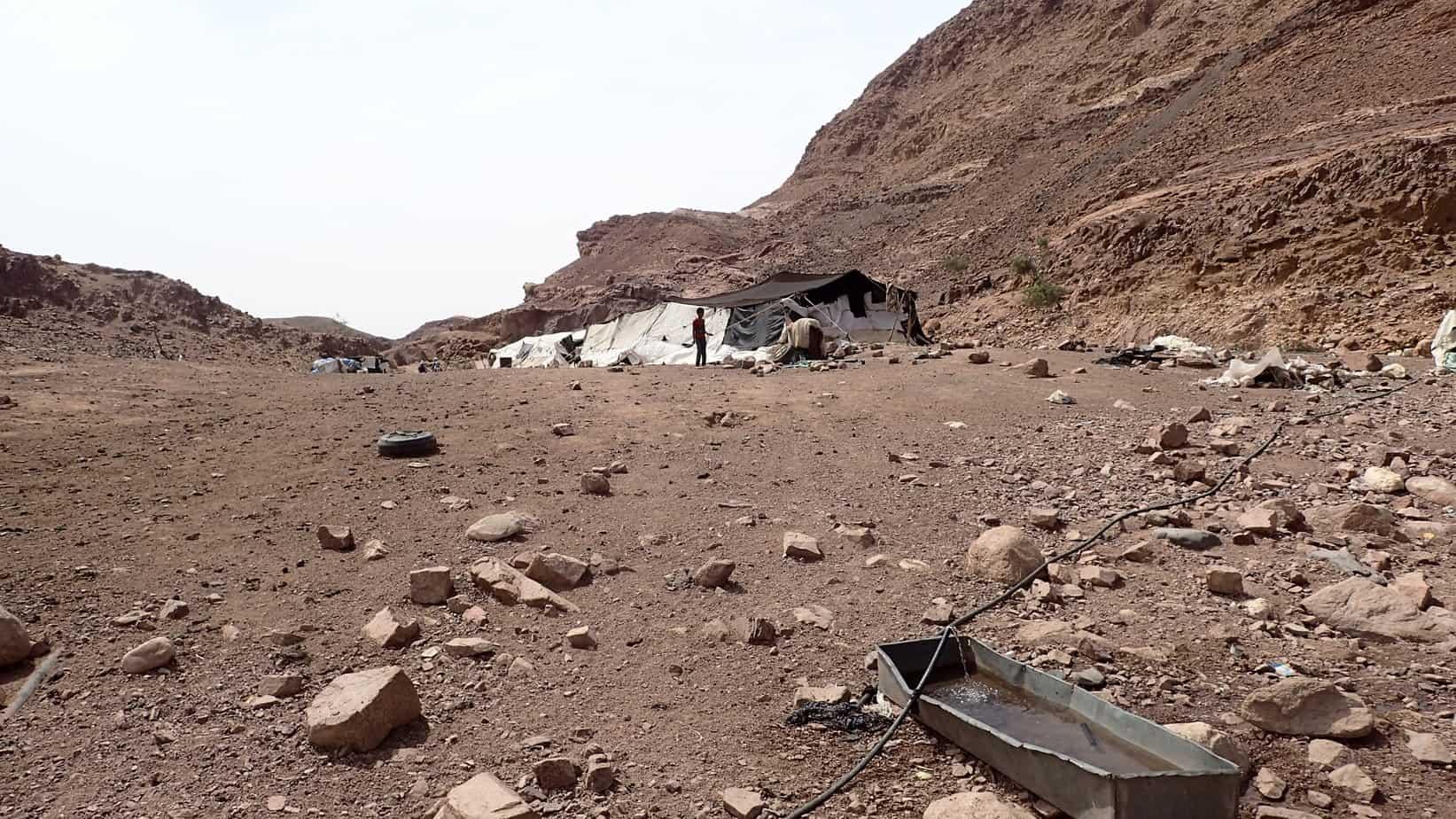 Bedouin tent in Jordan desert