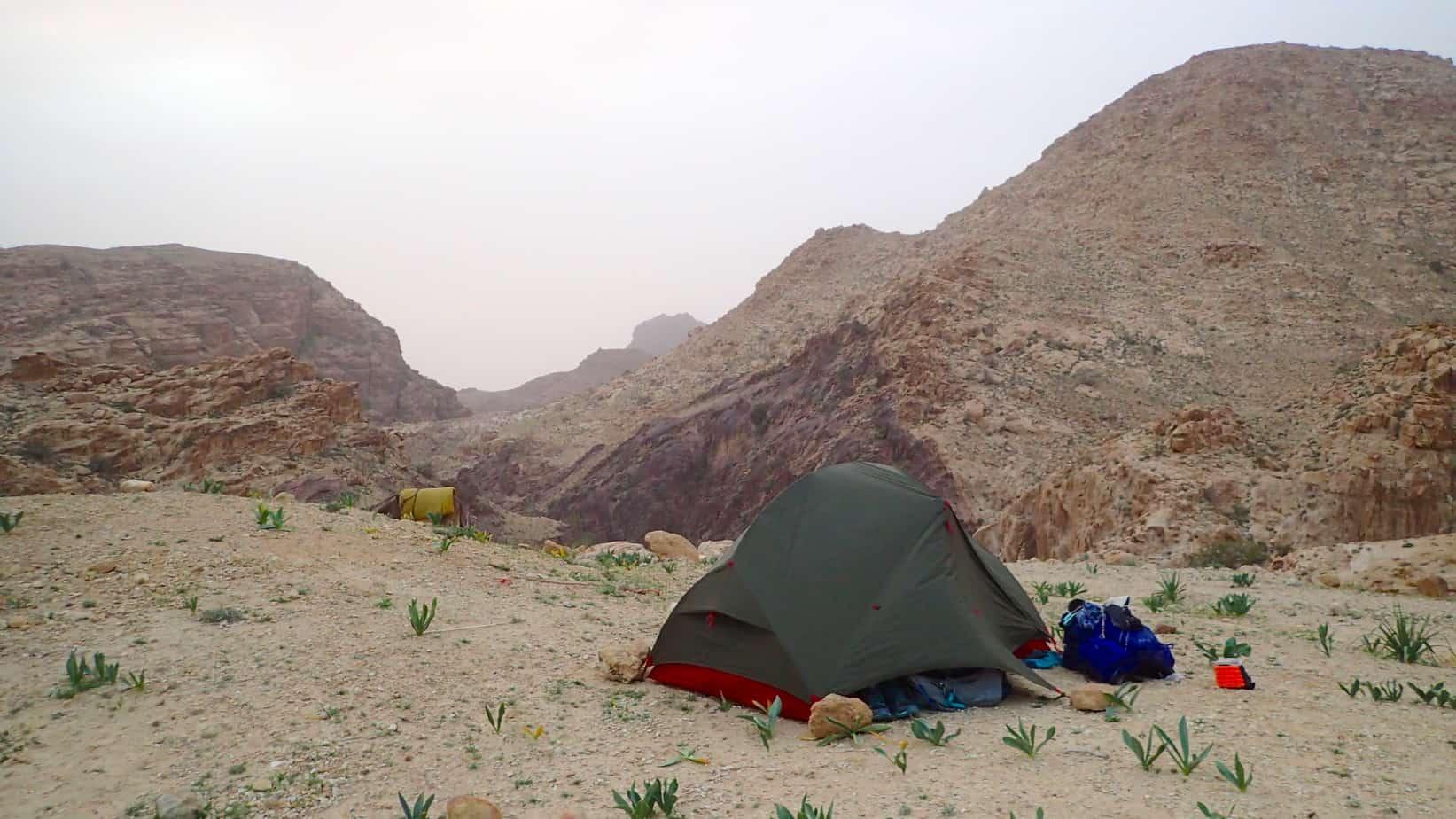 Wild camping in Jordan