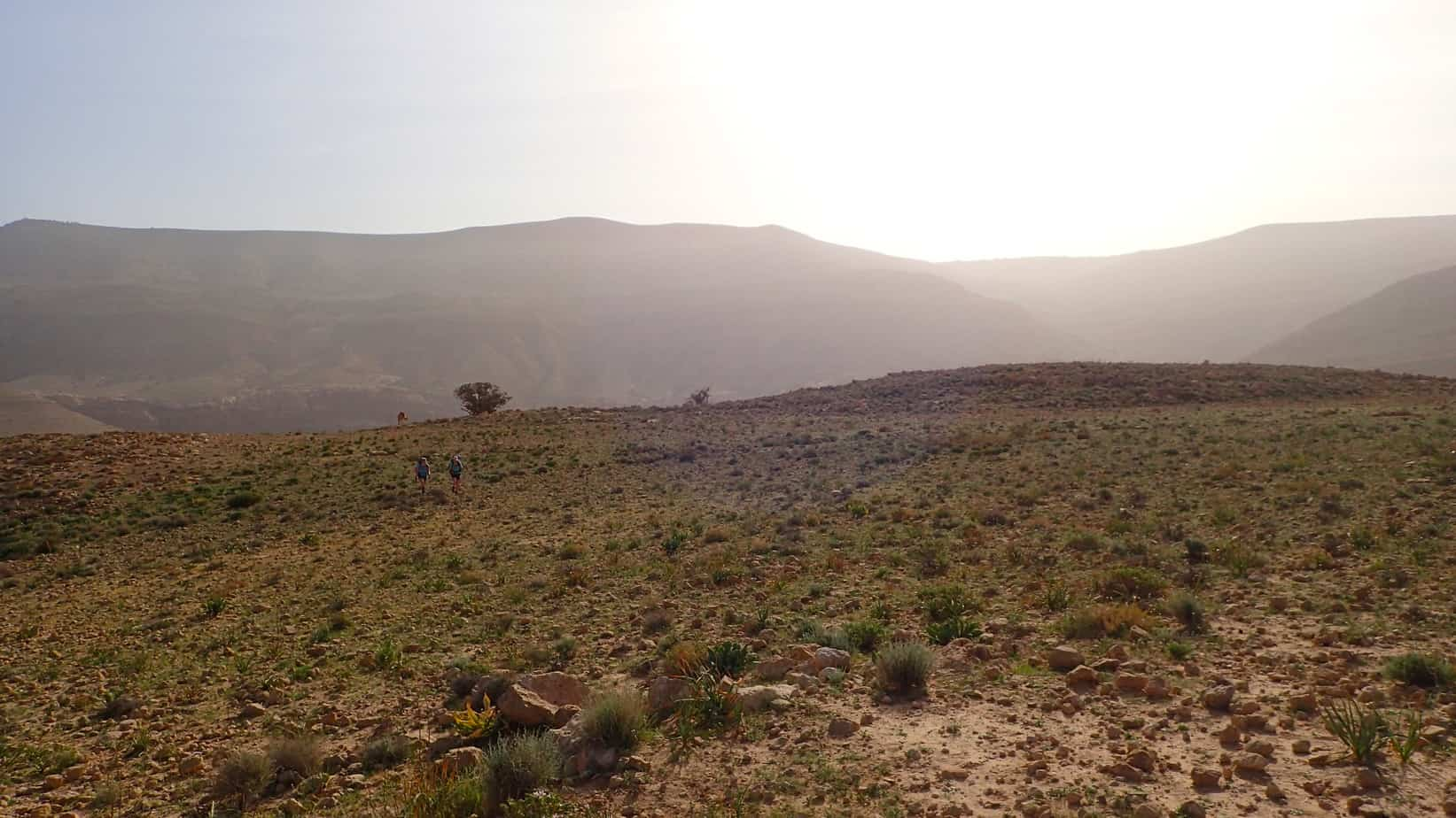 Hiking across the Jordan desert