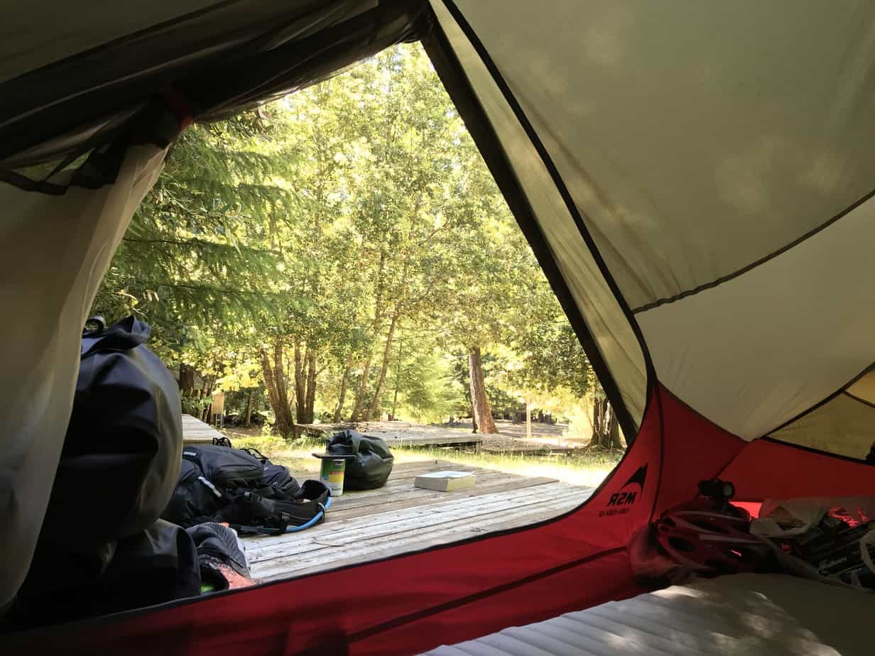 pacific coast bike route camping