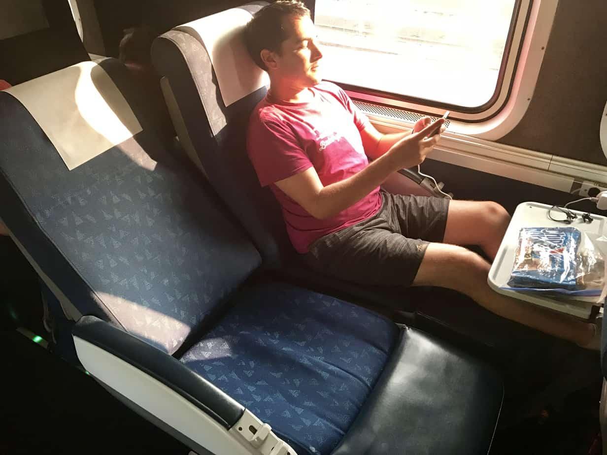 Saver seat on the Amtrak Starlight Train