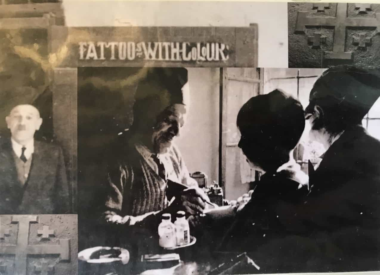 Getting a tattoo in Jerusalem