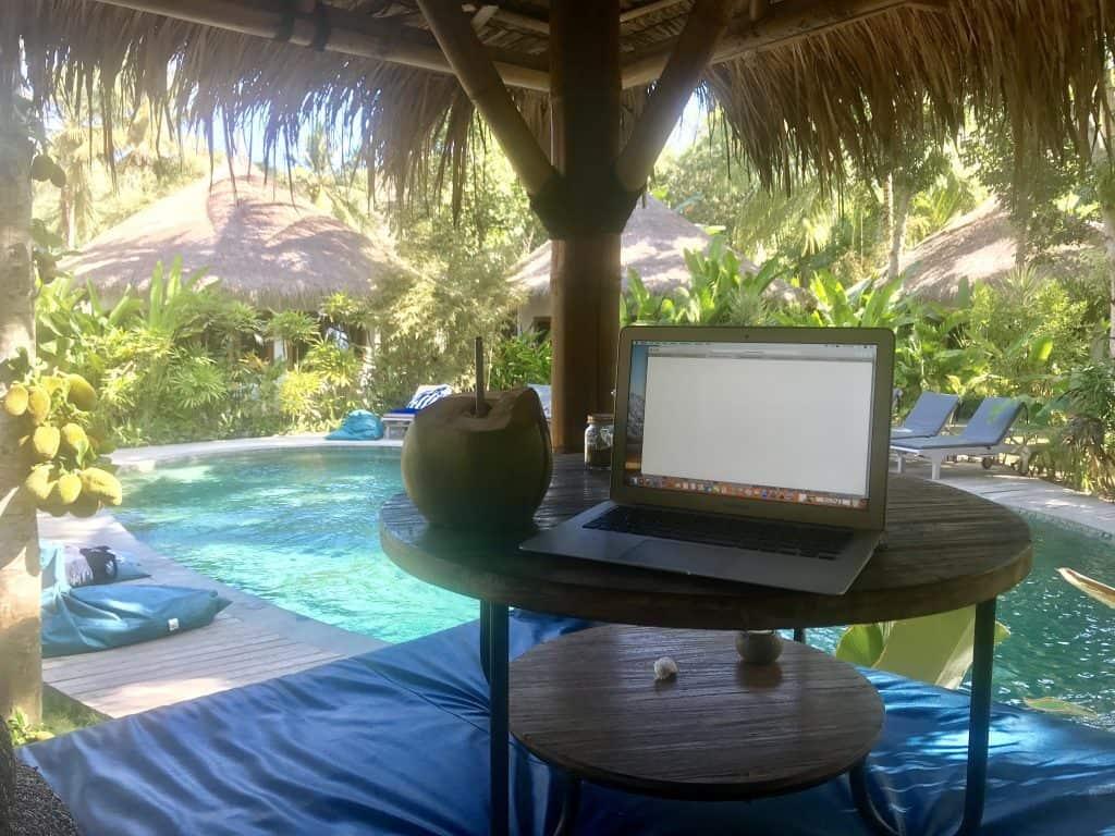 Relaxing at Mana Yoga Retreat