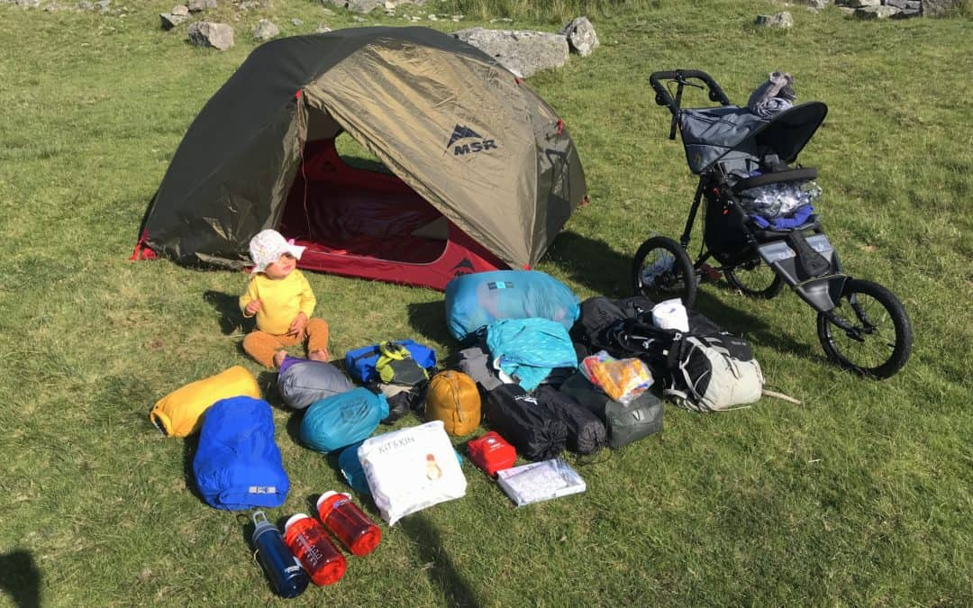 Wild camping with a baby